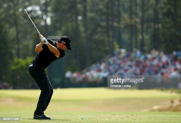 Rory McIlroy of Northern Ireland hits his see shot on the seventh hole during the third round of the 114th US Open at Pinehurst Resort Country Club...
