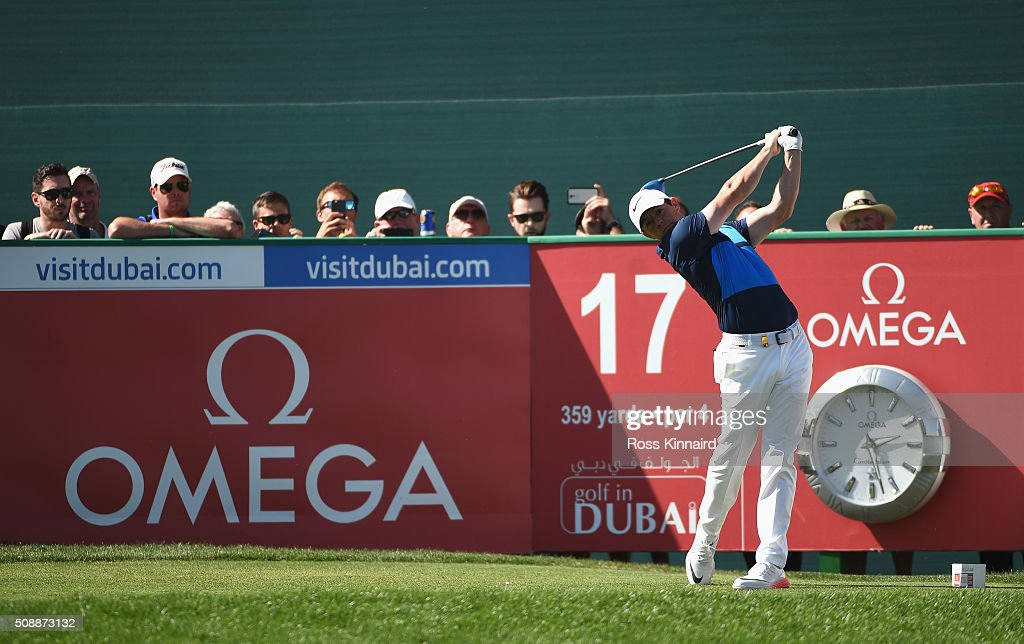 <a gi-track='captionPersonalityLinkClicked' href=/galleries/search?phrase=Rory+McIlroy&family=editorial&specificpeople=783109 ng-click='$event.stopPropagation()'>Rory McIlroy</a> of Northern Ireland hits his tee shot on the 17th hole during the final round of the Omega Dubai Desert Classic at the Emirates Golf Club on February 7, 2016 in Dubai, United Arab Emirates.