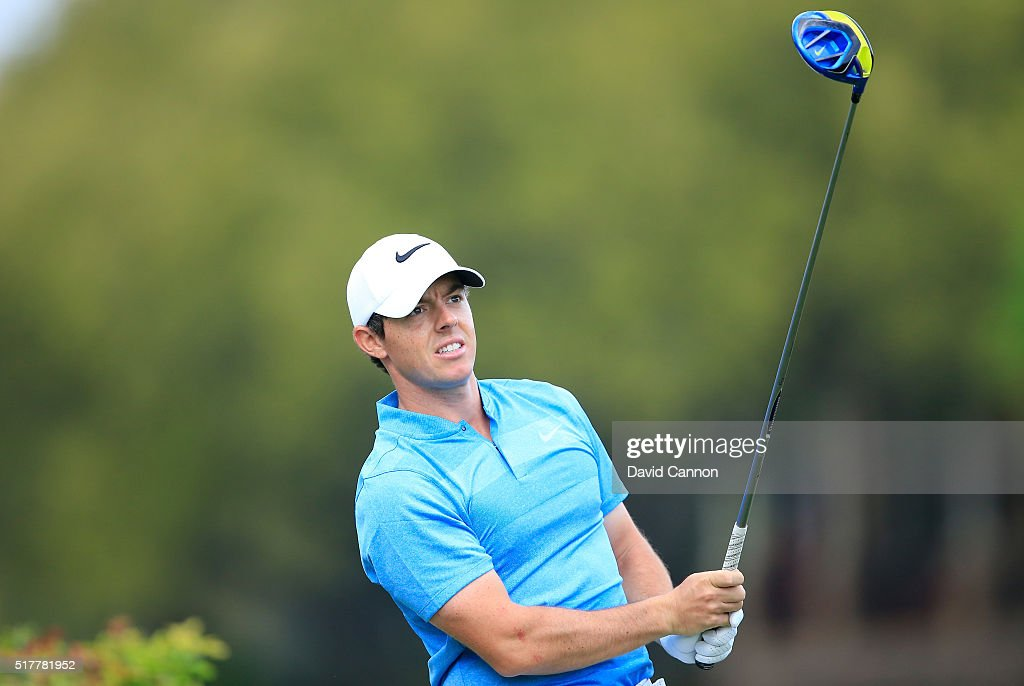 Rory McIlroy of Northern Ireland hits his tee shot on the sixth hole during his semifinal match with Jason Day at the World Golf Championships-Dell Match Play at the Austin Country Club on March 27, 2016 in Austin, Texas.