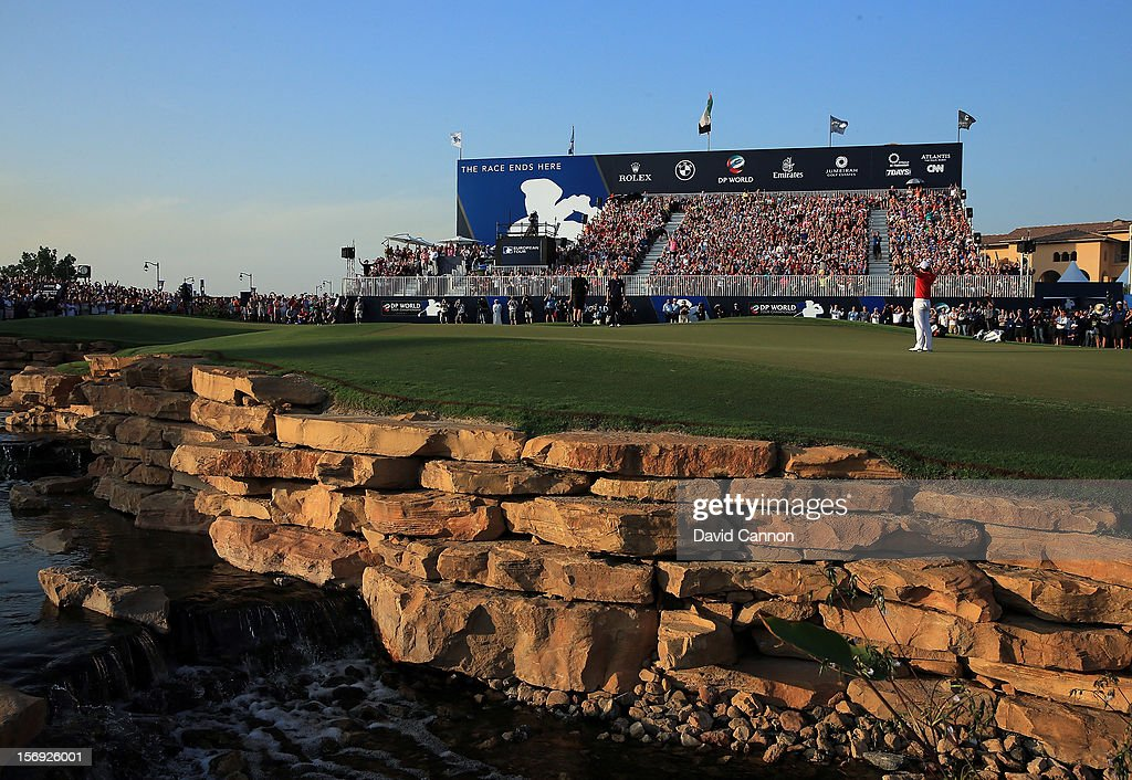 <a gi-track='captionPersonalityLinkClicked' href=/galleries/search?phrase=Rory+McIlroy&family=editorial&specificpeople=783109 ng-click='$event.stopPropagation()'>Rory McIlroy</a> of Northern Ireland holes the winning putt at the par 5, 18th hole during the final round of the 2012 DP World Tour Championship on the Earth Course at Jumeirah Golf Estates on November 25, 2012 in Dubai, United Arab Emirates.