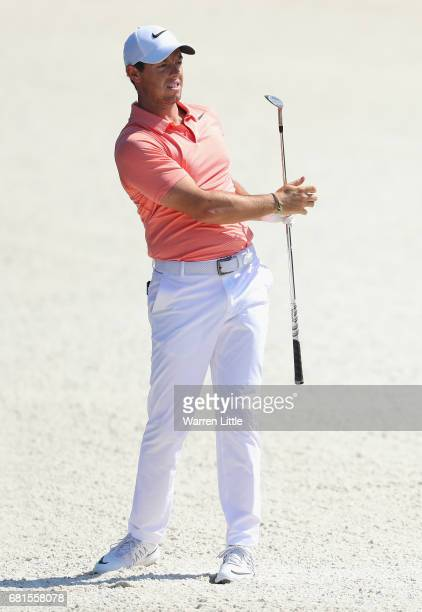 Rory McIlroy of Northern Ireland in action during a practice round ahead of THE PLAYERS Championship on the Stadium Course at TPC Sawgrass on May 10...
