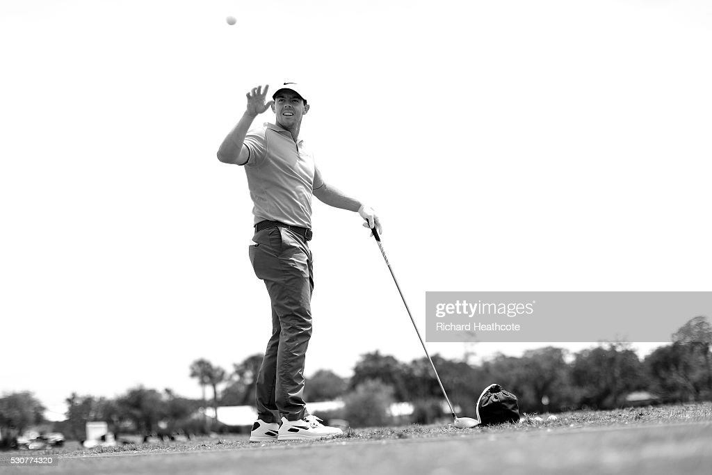Rory McIlroy of Northern Ireland in action during a practise round for THE PLAYERS Championship on The Stadium Course at TPC Sawgrass on May 11, 2016 in Ponte Vedra Beach, Florida.