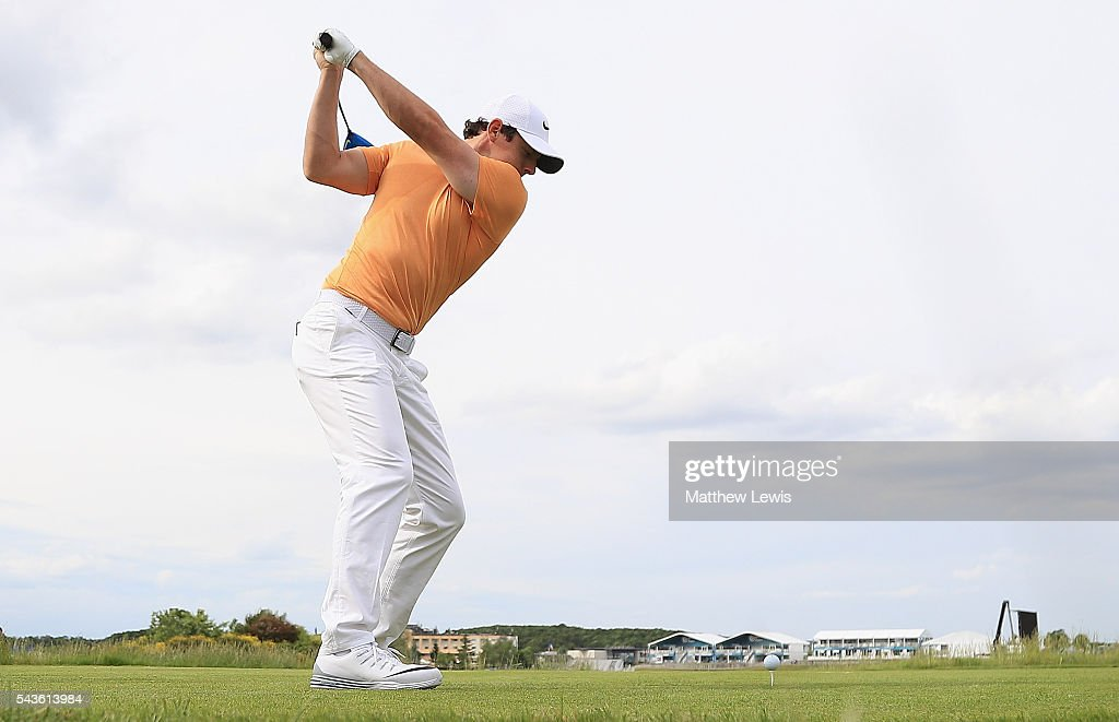 <a gi-track='captionPersonalityLinkClicked' href=/galleries/search?phrase=Rory+McIlroy&family=editorial&specificpeople=783109 ng-click='$event.stopPropagation()'>Rory McIlroy</a> of Northern Ireland in action during a pro-am round ahead of the 100th Open de France at Le Golf National on June 29, 2016 in Paris, France.