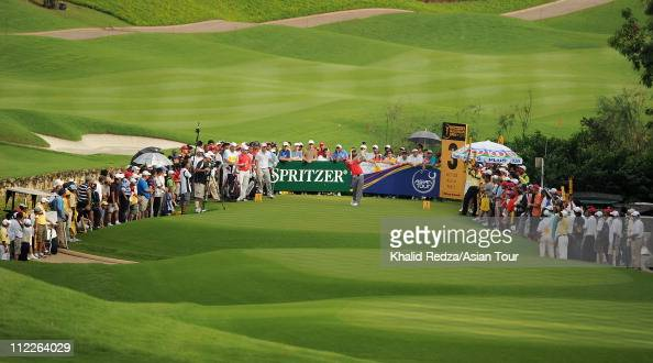 Rory McIlroy of Northern Ireland in action during day three of the Maybank Malaysian Open at Kuala Lumpur Golf Country Club on April 16 2011 in Kuala...