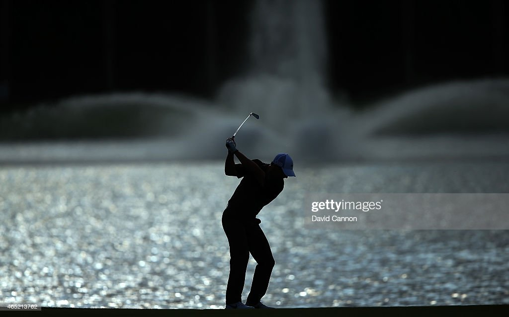 Rory McIlroy of Northern Ireland in action during his practice round as a preview for the Cadillac Championship held on the Blue Monster Course at...