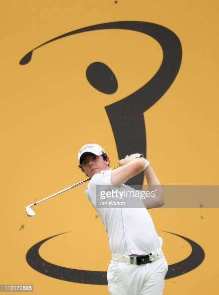 Rory McIlroy of Northern Ireland in action during the first round of the Maybank Malaysian Open at Kuala Lumpur Golf Country Club on April 14 2011 in...