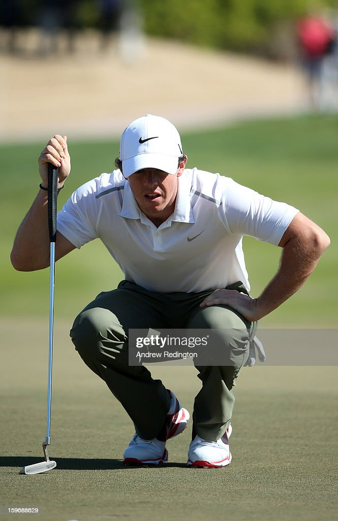 Rory McIlroy of Northern Ireland is pictured with his old putter during the second round of The Abu Dhabi HSBC Golf Championship at Abu Dhabi Golf Club on January 18, 2013 in Abu Dhabi, United Arab Emirates.