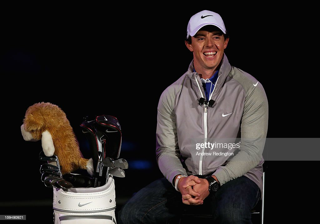 <a gi-track='captionPersonalityLinkClicked' href=/galleries/search?phrase=Rory+McIlroy&family=editorial&specificpeople=783109 ng-click='$event.stopPropagation()'>Rory McIlroy</a> of Northern Ireland is unveiled as a new brand ambassador for Nike at the Fairmont hotel on January 14, 2013 in Abu Dhabi, United Arab Emirates.