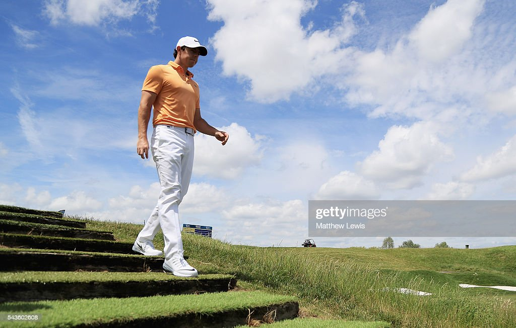 <a gi-track='captionPersonalityLinkClicked' href=/galleries/search?phrase=Rory+McIlroy&family=editorial&specificpeople=783109 ng-click='$event.stopPropagation()'>Rory McIlroy</a> of Northern Ireland looks on during a pro-am round ahead of the 100th Open de France at Le Golf National on June 29, 2016 in Paris, France.