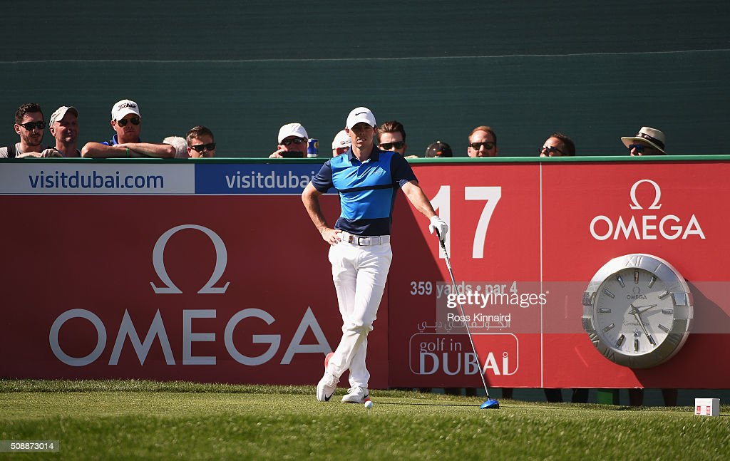 <a gi-track='captionPersonalityLinkClicked' href=/galleries/search?phrase=Rory+McIlroy&family=editorial&specificpeople=783109 ng-click='$event.stopPropagation()'>Rory McIlroy</a> of Northern Ireland looks on from the 17th tee during the final round of the Omega Dubai Desert Classic at the Emirates Golf Club on February 7, 2016 in Dubai, United Arab Emirates.