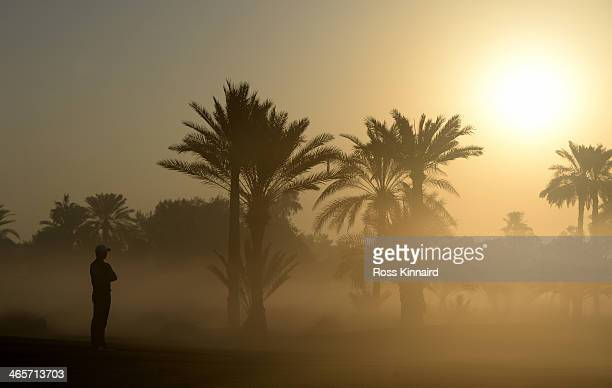 Rory McIlroy of Northern Ireland on the 10th hole during the proam event prior to the Omega Dubai Desert Classic on the Majlis Course on January 29...