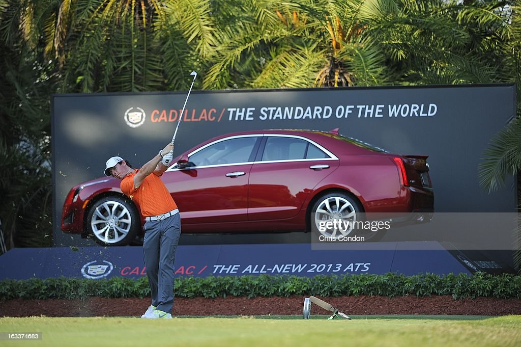 Rory McIlroy of Northern Ireland on the 15th hole during the second round of the World Golf Championships-Cadillac Championship at TPC Blue Monster at Doral on March 8, 2013 in Doral, Florida.