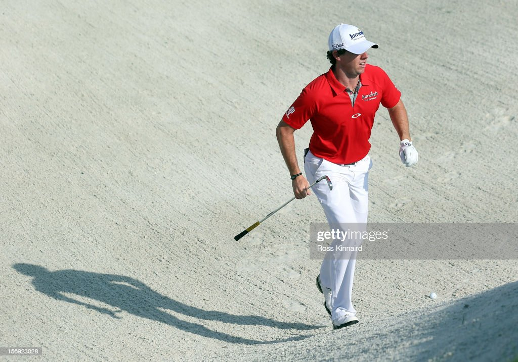 Rory McIlroy of Northern Ireland on the 8th hole during the final round the DP World Tour Championship on the Earth Course at Jumeirah Golf Estates on November 25, 2012 in Dubai, United Arab Emirates.