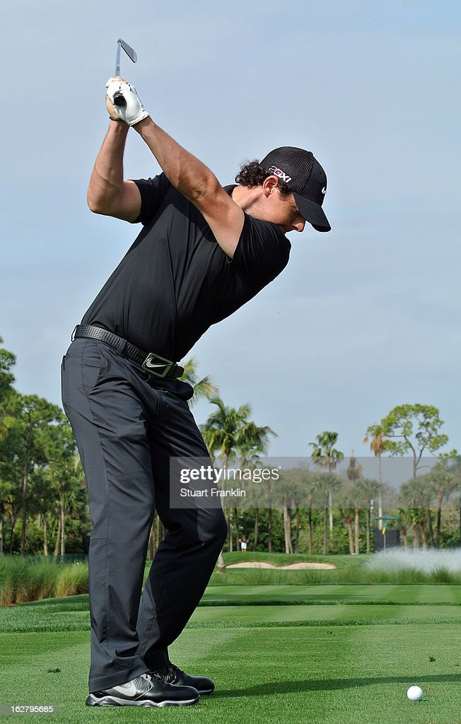 <a gi-track='captionPersonalityLinkClicked' href=/galleries/search?phrase=Rory+McIlroy&family=editorial&specificpeople=783109 ng-click='$event.stopPropagation()'>Rory McIlroy</a> of Northern Ireland plays a shot during the pro am of the Honda Classic at PGA National on February 27, 2013 in Palm Beach Gardens, Florida.