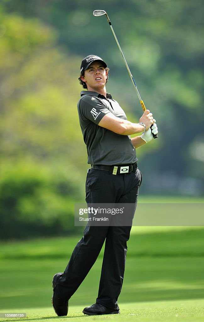 <a gi-track='captionPersonalityLinkClicked' href=/galleries/search?phrase=Rory+McIlroy&family=editorial&specificpeople=783109 ng-click='$event.stopPropagation()'>Rory McIlroy</a> of Northern Ireland plays a shot during the pro - am prior to the start of the Barclays Singapore Open at the Sentosa Golf Club on November 7, 2012 in Singapore.