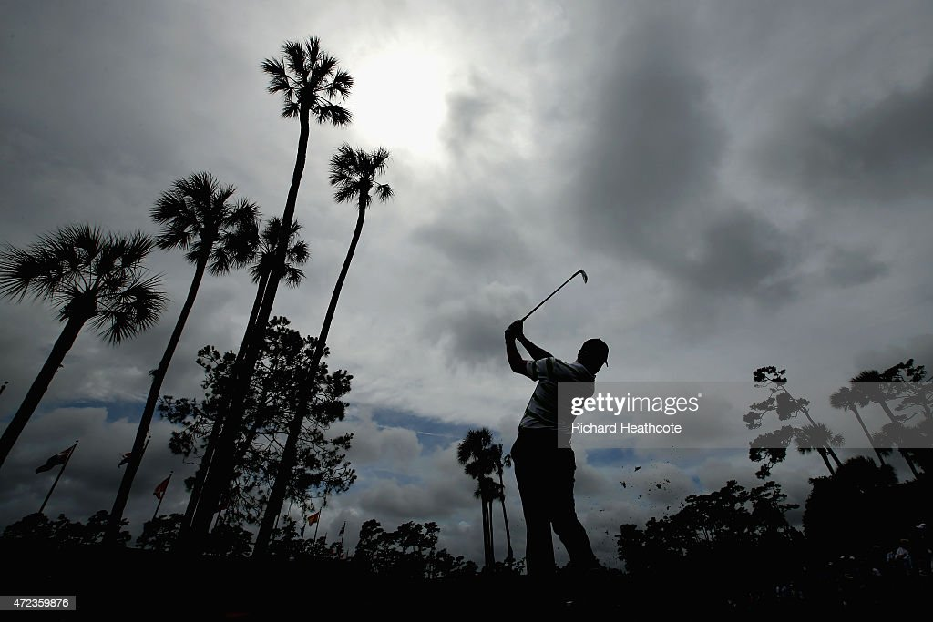 Rory McIlroy of Northern Ireland plays a shot from the third tee during a practice round for THE PLAYERS Championship at the TPC Sawgrass Stadium...