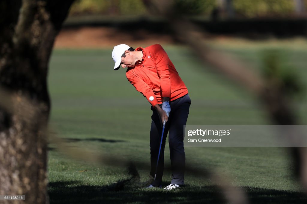Rory McIlroy of Northern Ireland plays a shot on the 15th hole during the first round of the Arnold Palmer Invitational Presented By MasterCard on March 16, 2017 in Orlando, Florida.