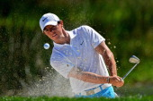 Rory McIlroy of Northern Ireland plays a shot on the second hole during the third round of The Honda Classic at PGA National Resort and Spa on March...