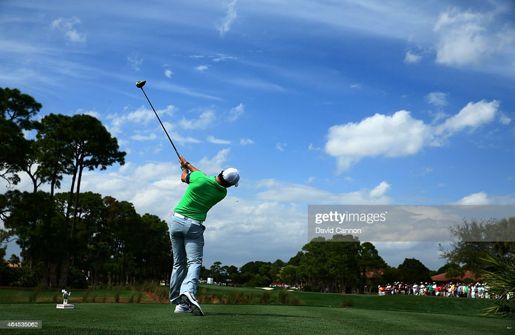 Rory McIlroy of Northern Ireland plays his shot from the second tee during the first round of The Honda Classic at PGA National Resort & Spa - Champion Course on February 26, 2015 in Palm Beach Gardens, Florida.