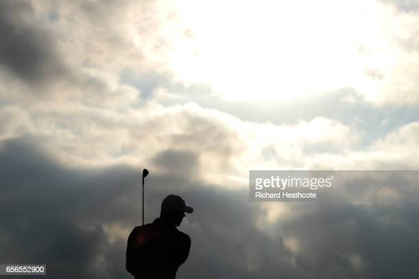 Rory McIlroy of Northern Ireland practices on the driving range prior to the first round of the World Golf Championships Dell Technologies Match Play...