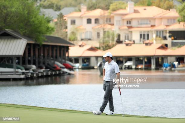 Rory McIlroy of Northern Ireland stands on the 12th hole of his match during round one of the World Golf ChampionshipsDell Technologies Match Play at...