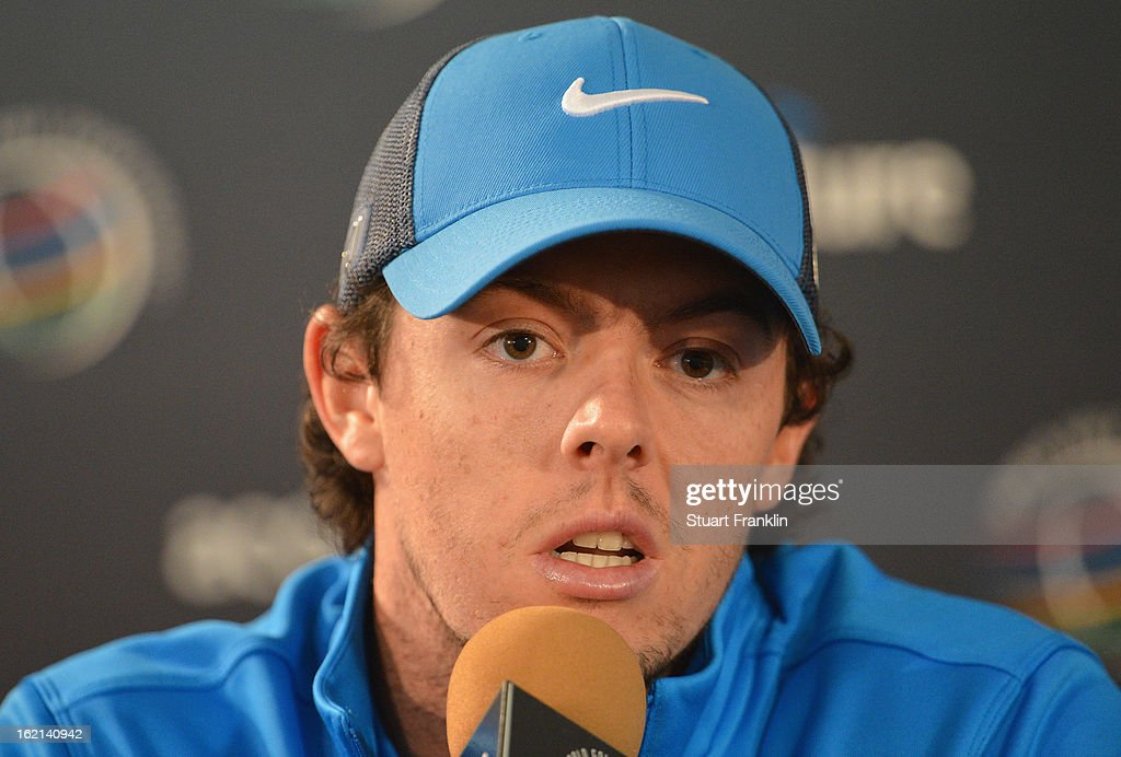 Rory McIlroy of Northern Ireland talks with the media during his press conference prior to the start of the World Golf Championships-Accenture Match Play Championship at the Ritz-Carlton Golf Club on February 19, 2013 in Marana, Arizona.