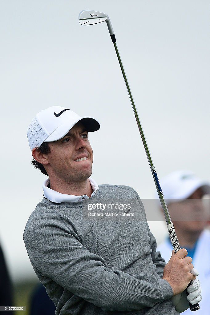 <a gi-track='captionPersonalityLinkClicked' href=/galleries/search?phrase=Rory+McIlroy&family=editorial&specificpeople=783109 ng-click='$event.stopPropagation()'>Rory McIlroy</a> of Northern Ireland tees off on the 11th hole during the first round of the 100th Open de France at Le Golf National on June 30, 2016 in Paris, France.