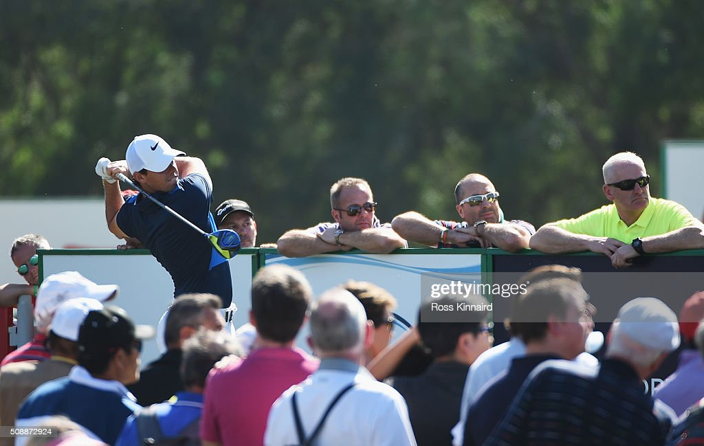 <a gi-track='captionPersonalityLinkClicked' href=/galleries/search?phrase=Rory+McIlroy&family=editorial&specificpeople=783109 ng-click='$event.stopPropagation()'>Rory McIlroy</a> of Northern Ireland tees off on the 16th hole during the final round of the Omega Dubai Desert Classic at the Emirates Golf Club on February 7, 2016 in Dubai, United Arab Emirates.
