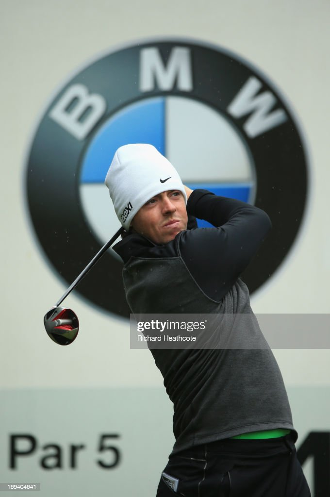 <a gi-track='captionPersonalityLinkClicked' href=/galleries/search?phrase=Rory+McIlroy&family=editorial&specificpeople=783109 ng-click='$event.stopPropagation()'>Rory McIlroy</a> of Northern Ireland tees off on the fouth hole during the second round of the BMW PGA Championship on the West Course at Wentworth on May 24, 2013 in Virginia Water, England.