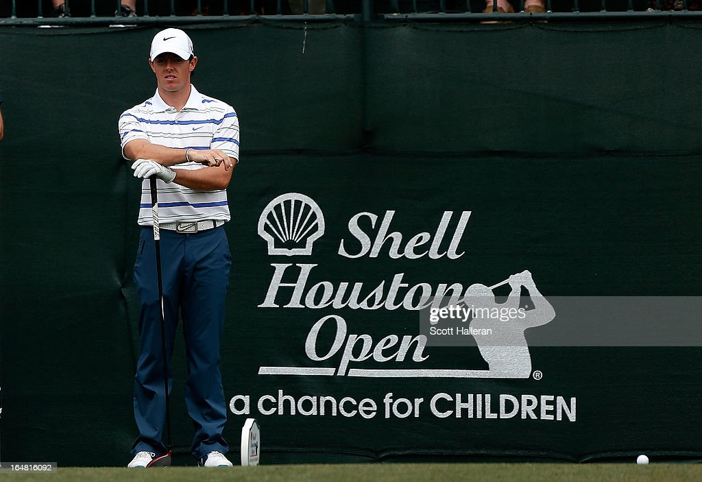 Rory McIlroy of Northern Ireland waits on the first hole during the first round of the Shell Houston Open at the Redstone Golf Club on March 28, 2013 in Humble, Texas.