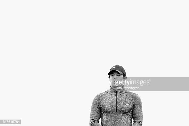 Rory McIlroy of Northern Ireland waits on the seventh hole during the round of 16 in the World Golf ChampionshipsDell Match Play at the Austin...