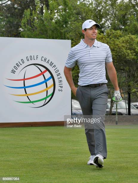 Rory McIlroy of Northern Ireland walks along the 15th hole during round one of the World Golf Championships Dell Technologies Match Play at Austin...