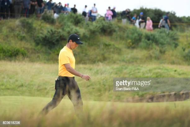 Rory McIlroy of Northern Ireland walks along the tenth hole during the final round of the 146th Open Championship at Royal Birkdale on July 23 2017...
