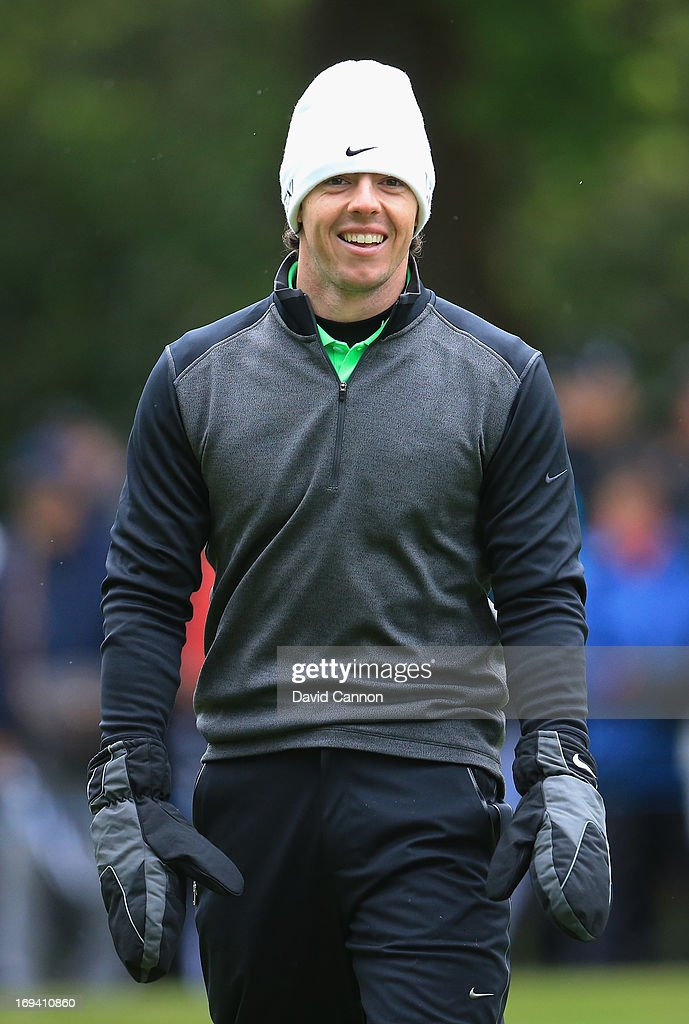 Rory McIlroy of Northern Ireland walks down the fifteenth fairway during the second round of the BMW PGA Championship on the West Course at Wentworth on May 24, 2013 in Virginia Water, England.