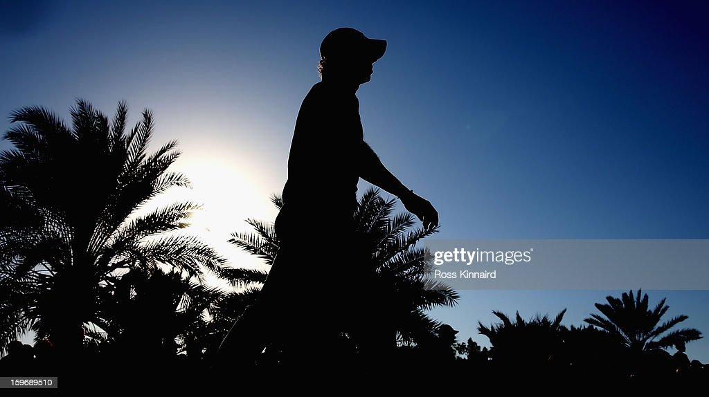 Rory McIlroy of Northern Ireland walks off of the 18th tee during the second round of the Abu Dhabi HSBC Golf Championship at the Abu Dhabi Golf Club on January 18, 2013 in Abu Dhabi, United Arab Emirates.