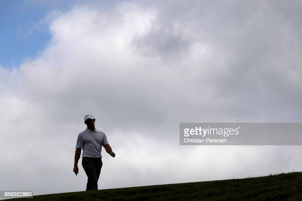 Rory McIlroy of Northern Ireland walks on the driving range prior to round one of the World Golf ChampionshipsDell Technologies Match Play at the...