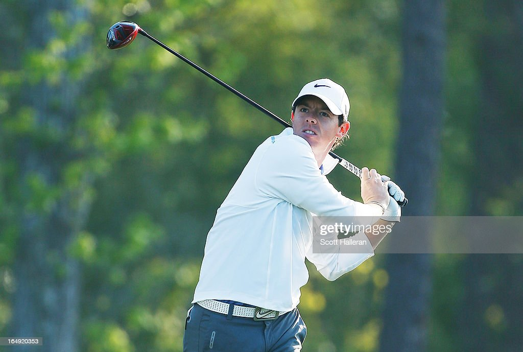 <a gi-track='captionPersonalityLinkClicked' href=/galleries/search?phrase=Rory+McIlroy&family=editorial&specificpeople=783109 ng-click='$event.stopPropagation()'>Rory McIlroy</a> of Northern Ireland watches his tee shot on the 13th hole during the second round of the Shell Houston Open at the Redstone Golf Club on March 29, 2013 in Humble, Texas.