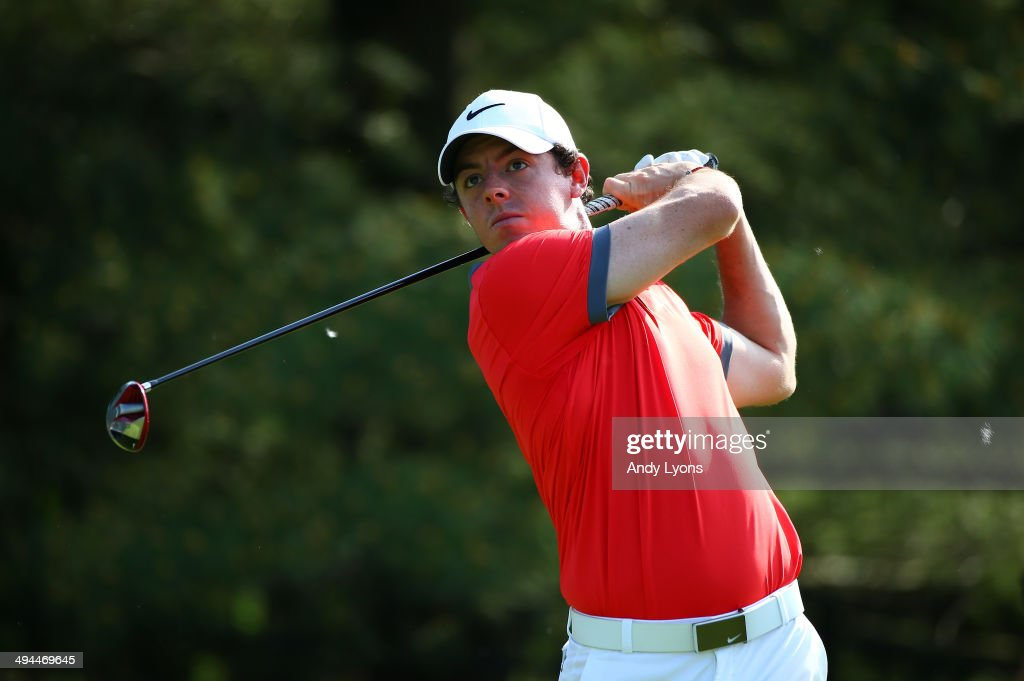 Rory McIlroy of Northern Ireland watches his tee shot on the 13th hole during the first round of the Memorial Tournament presented by Nationwide Insurance at Muirfield Village Golf Club on May 29, 2014 in Dublin, Ohio.