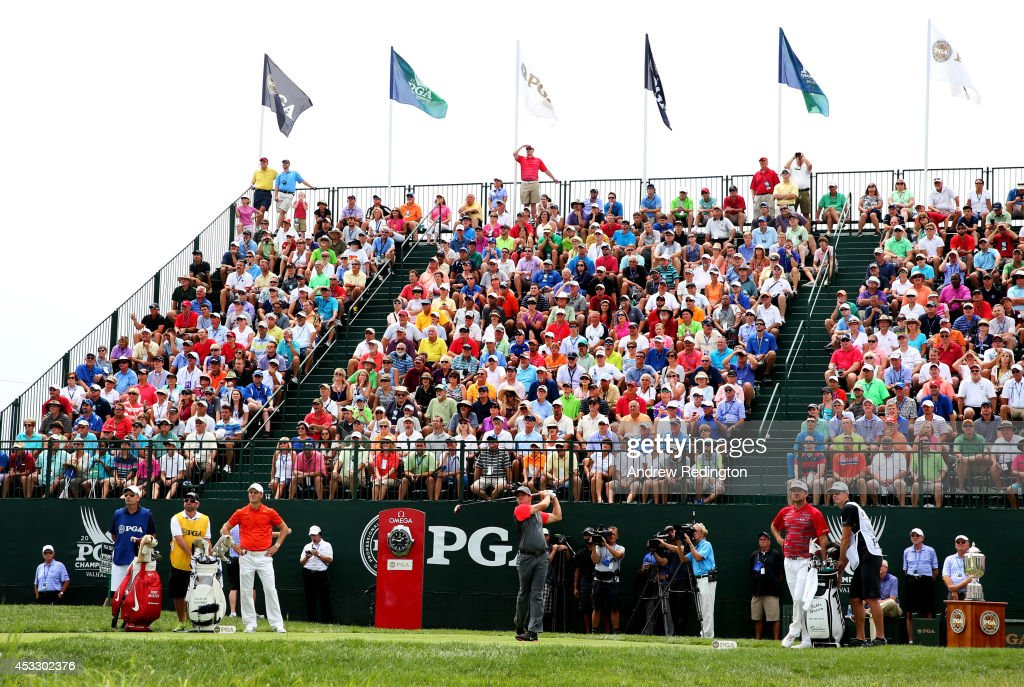 <a gi-track='captionPersonalityLinkClicked' href=/galleries/search?phrase=Rory+McIlroy&family=editorial&specificpeople=783109 ng-click='$event.stopPropagation()'>Rory McIlroy</a> of Northern Ireland watches his tee shot on the first hole during the first round of the 96th PGA Championship at Valhalla Golf Club on August 7, 2014 in Louisville, Kentucky.