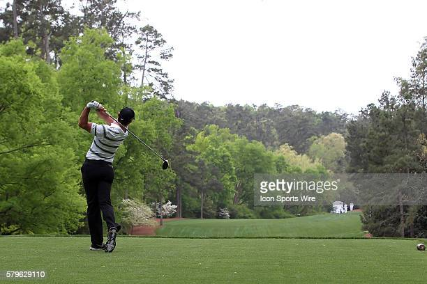 Rory McIlroy on the 11 th tee during the 2015 Masters Tournament at the Augusta National Golf Club in Augusta Georgia