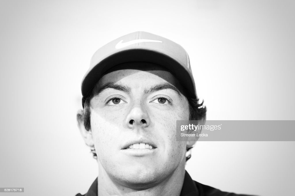 <a gi-track='captionPersonalityLinkClicked' href=/galleries/search?phrase=Rory+McIlroy&family=editorial&specificpeople=783109 ng-click='$event.stopPropagation()'>Rory McIlroy</a> speaks to the media ahead of the 2016 Wells Fargo Championship at Quail Hollow Club on May 11, 2016 in Charlotte, North Carolina.