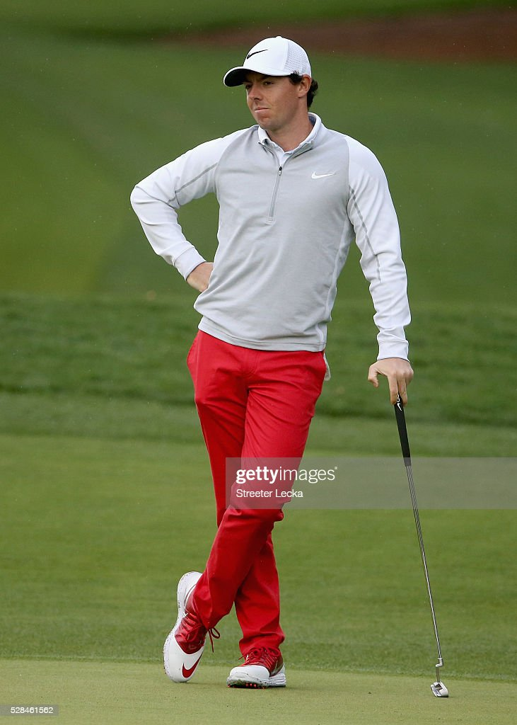 <a gi-track='captionPersonalityLinkClicked' href=/galleries/search?phrase=Rory+McIlroy&family=editorial&specificpeople=783109 ng-click='$event.stopPropagation()'>Rory McIlroy</a> waits to hit on the 11th hole during the first round of the 2016 Wells Fargo Championship at Quail Hollow Club on May 5, 2016 in Charlotte, North Carolina.