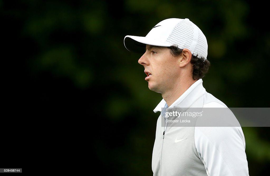 <a gi-track='captionPersonalityLinkClicked' href=/galleries/search?phrase=Rory+McIlroy&family=editorial&specificpeople=783109 ng-click='$event.stopPropagation()'>Rory McIlroy</a> walks down the fairway on the 12th hole during the first round of the 2016 Wells Fargo Championship at Quail Hollow Club on May 5, 2016 in Charlotte, North Carolina.