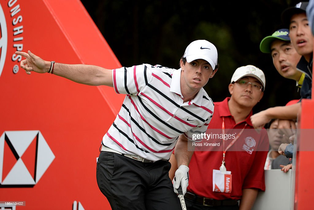 Rory McIroy of Northern Ireland in action during the first round of the WGC - HSBC Champions at the Sheshan International Golf Club on October 31, 2013 in Shanghai, China.