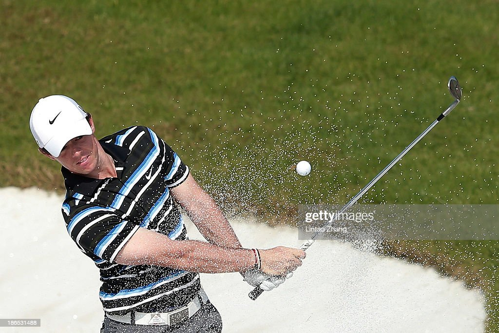 Rory McIroy of Northern Ireland in action during the second round of the WGC - HSBC Champions at Sheshan International Golf Club on November 1, 2013 in Shanghai, China.