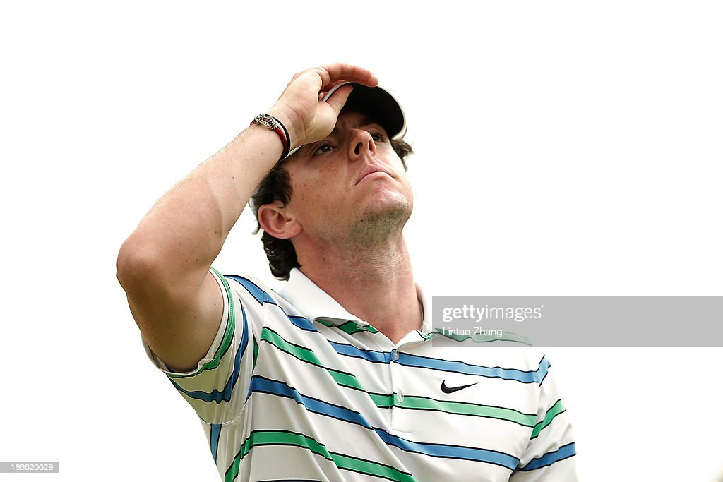 Rory McIroy of Northern Ireland looks on at the 2th hole during the third round of the WGC - HSBC Champions at the Sheshan International Golf Club on November 2, 2013 in Shanghai, China.