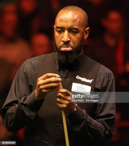 Rory McLeod at the table during his 1st round match against Ali Carter during the Pukka Pies UK Championship at Telford International Centre Telford