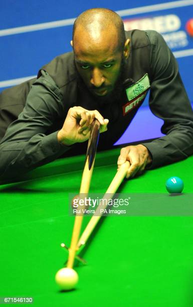 Rory McLeod during his match against Stephen Maguire on day eight of the Betfred Snooker World Championships at the Crucible Theatre Sheffield