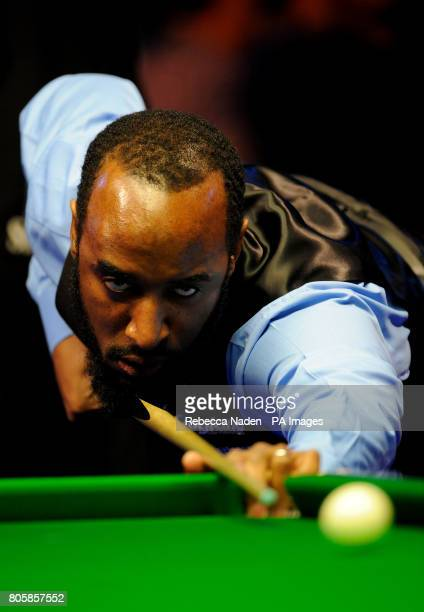 Rory McLeod in action during his match against Mark Williams