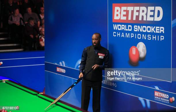 Rory McLeod on day five of the Betfred Snooker World Championships at the Crucible Theatre Sheffield